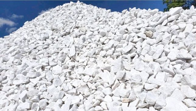 Grys marmur grecki śniezno bialy thassos 8-16mm i 16-45mm Boleslawiec