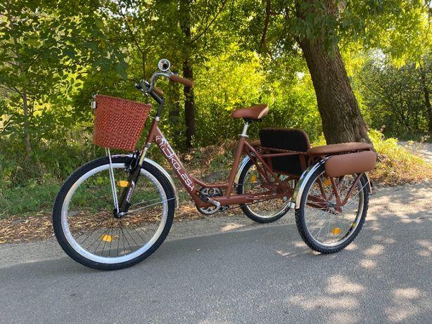 Трехколесный велосипед для взрослых 3Колеса двухместный, украинский