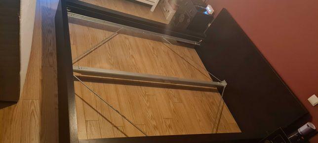Estrutura da Cama MALM IKEA + 2 Estrados de Ripas Luroy