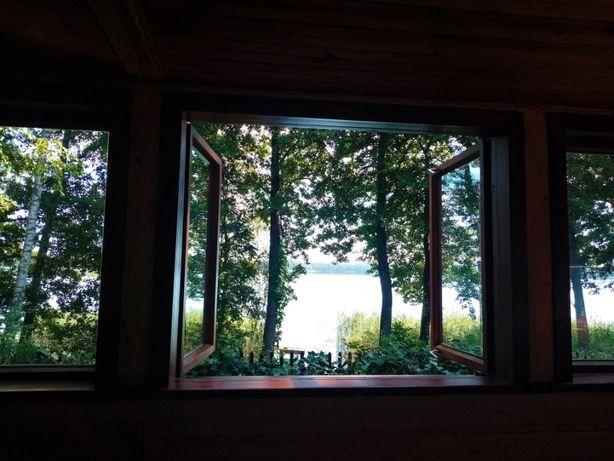 Domek nad jeziorem z widokiem na Mazurach nocleg dostęp do jeziora #1