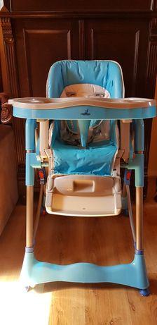 Krzesełko do karmienia dziecka CARETERO dwie tacki, regulacja, kółka