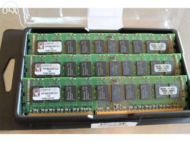 Memórias Kingston 3 módulos de 2Gb (6Gb) DDR3 SDRAM