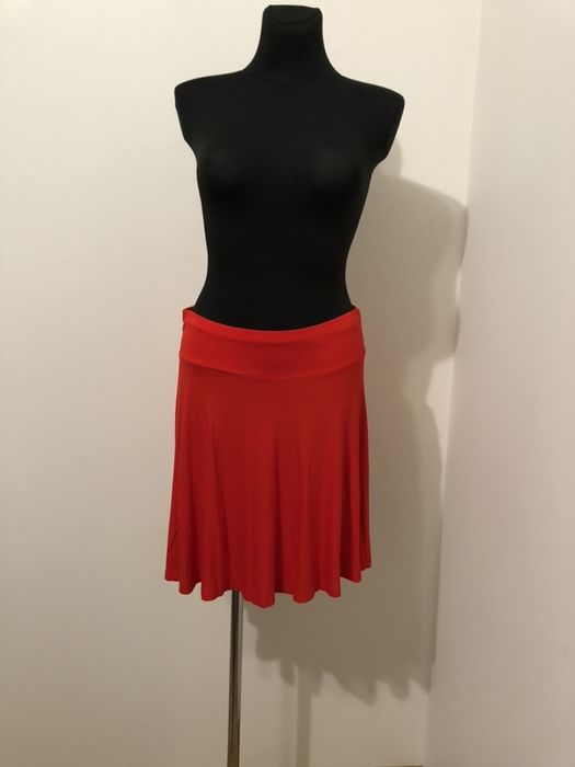 Spódnica czerwona rozkloszowana H&M r. L Skórzewo - image 1