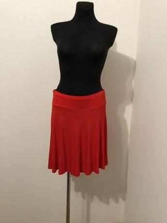 Spódnica czerwona rozkloszowana H&M r. L