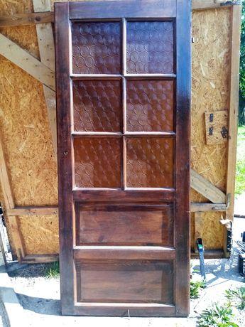 Drzwi pokojowe drewniane lakierowane 80 cm lewe