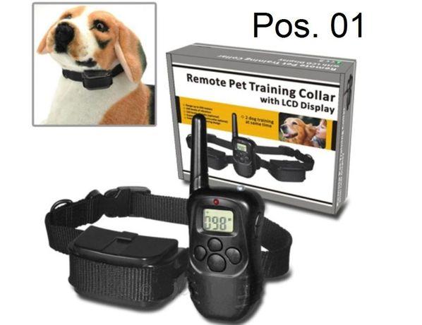 Coleira com comando à distância de 300M para treinar cães