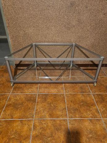 Stolik szklany rtv metalowy