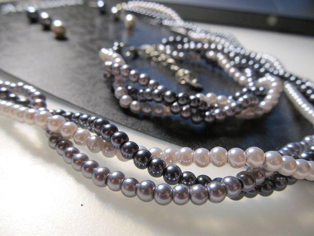 Naszyjnik, bransoletka, kolczyki - komplet biżuterii Dunnes Stores