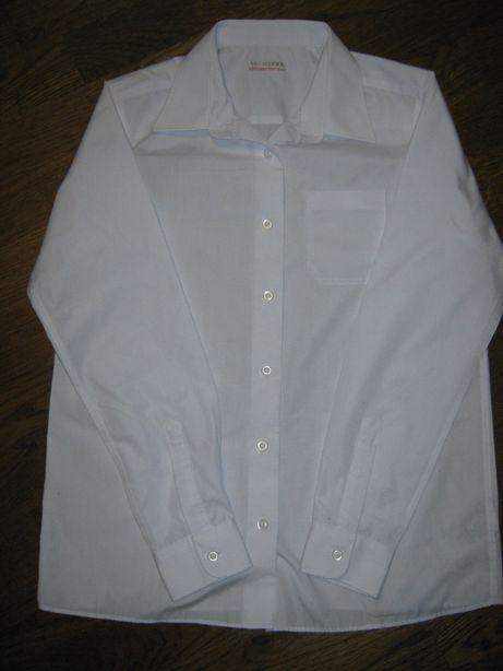 Белоснежная рубашка на мальчика 12-13-ти лет, новая