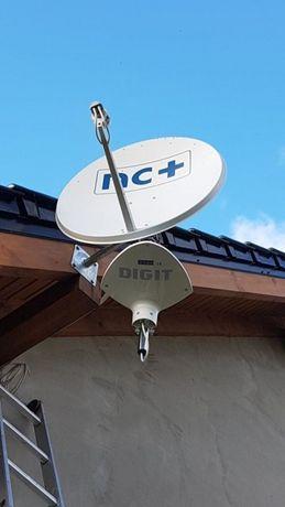montaż anteny ustawienie anteny SAT i DVB T MONITORING ALARMY alarm