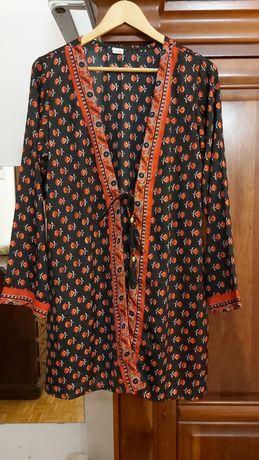 Kimono tecido tipo seda