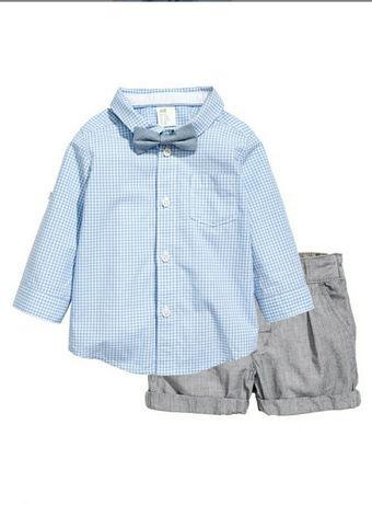 Комплект H&M (рубашка,шорты)
