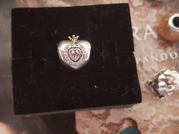 Charms Pandora tt Różowe serce księżniczki ideał