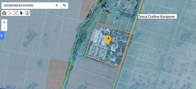 Продажа участка 7,5 гектар промышленного назначения 40км от Киева