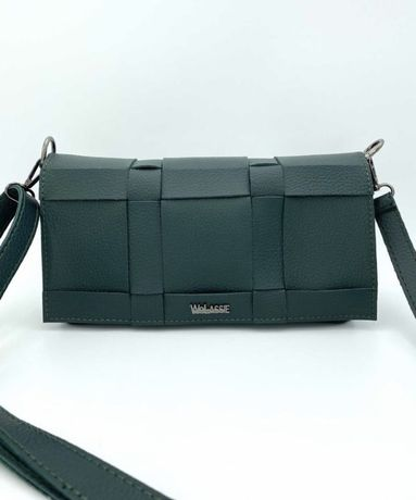 Темно-зеленая сумочка кроссбоди