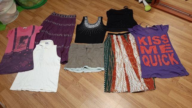 Кофта, майка, футболка, юбка, спідниця, лот, вещи, одежда