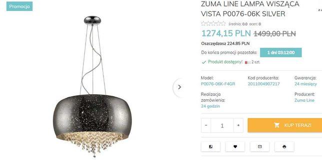 Piękna Lampa wisząca VISTA P0076-05K