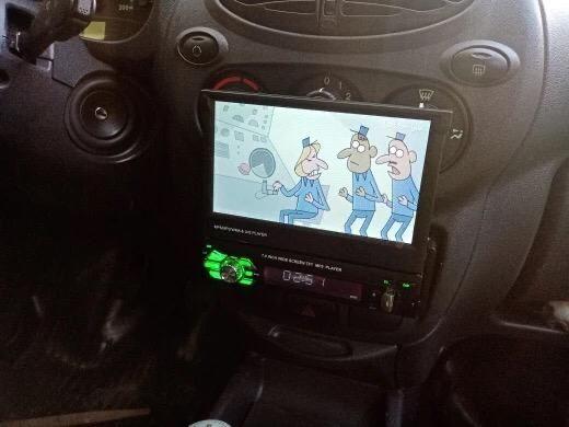 Auto-Rádio Mp5 Retratil 1Din Universal/Mirrolink(Gps,Youtube)NOVO
