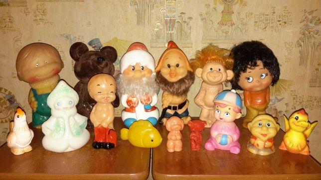 Резиновые игрушки ссср, РАРИТЕТ, колкий пластик, марионетка