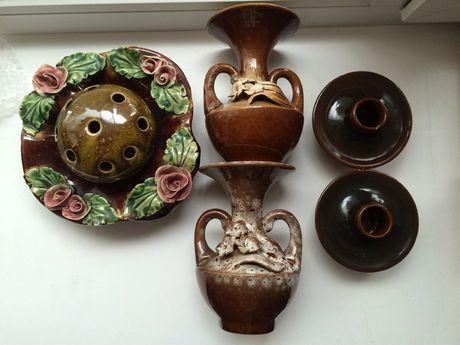 Керамічні вази і підсвічники