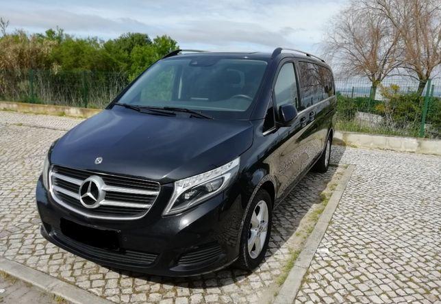 Transporte de passageiros em Mercedes class V c/ motorista
