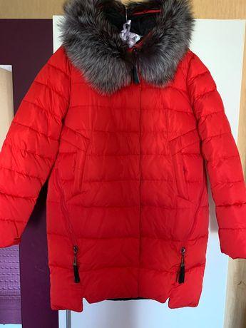 Пуховое пальто,52-54р.