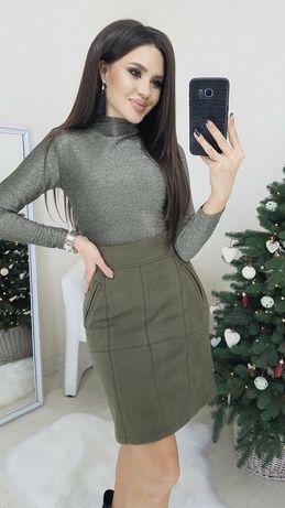 Платье люрекс замш