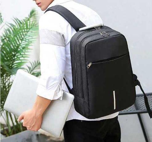 Хит! Рюкзак подростковый. Для ноутбука 15.6 с USB черный для мальчика