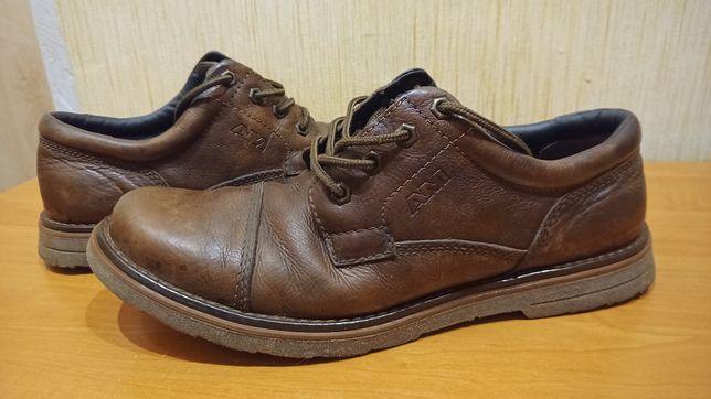 Ботинки-туфли  AM Shoe (Германия) 45-46, кожа