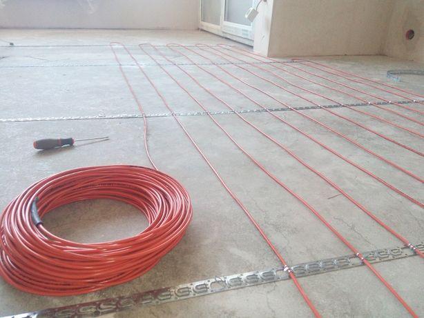 Електрична тепла підлога під плитку токий мат. Devi, Nexans Теплый пол