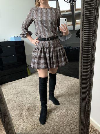 Sukienka w zwiezecy wzor 36