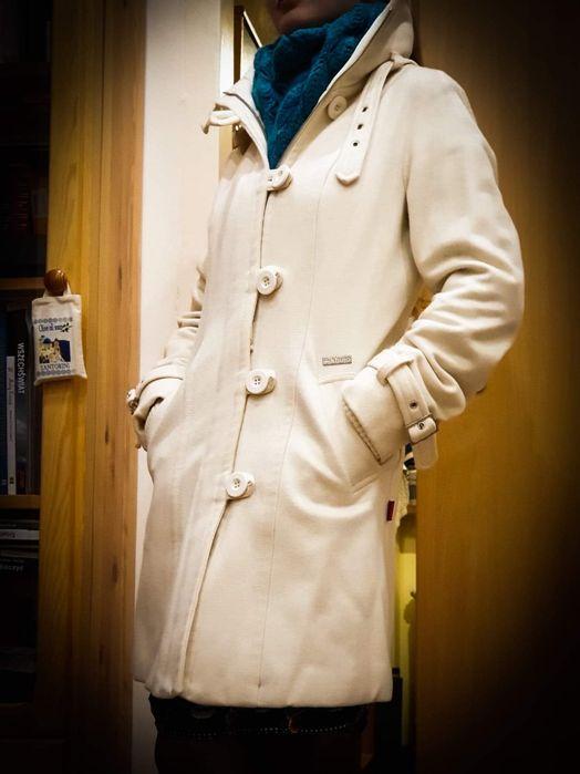 Zimowy płaszcz kremowy firmy khujo Limanowa - image 1