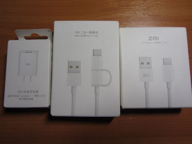 ZMI быстрая зарядка QC3.0 5V 2.5A/9V 2A/12V 1.5A блок питания зарядное