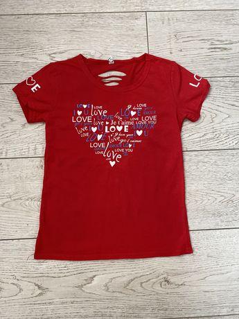 Жіноча червона футболка