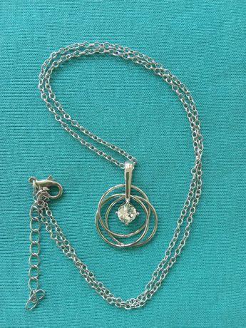 кулон с цепочкой от ив роше под серебро новый