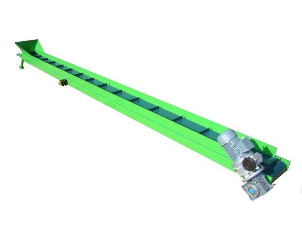 Taśmociąg przenośnik taśmowy 3m z zabierakami nowy 0,5m szerokości