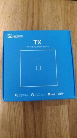 Sonoff TX T1 EU 1C pojedyńczy włącznik wi-fi RF 433Mhz + Soft