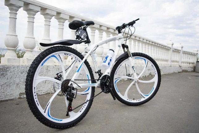"+БОHУC!! Горный велосипед BMW BLACK WHITE нa литыx дискaх 26"" W0063"