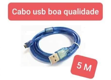 Cabo usb am/5p  2.0  de 5m
