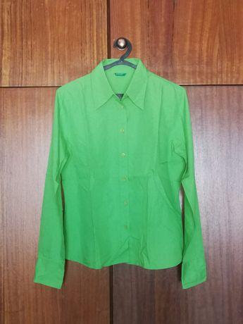 Camisa verde Benetton de senhora