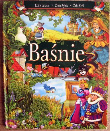 Książka dla dzieci Baśnie: Kot w butach, Złota rybka, Żabi Król
