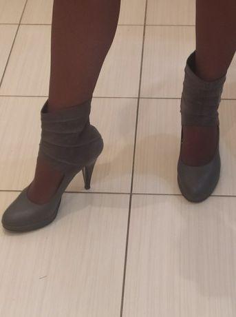 Туфли кожа италия+ замша