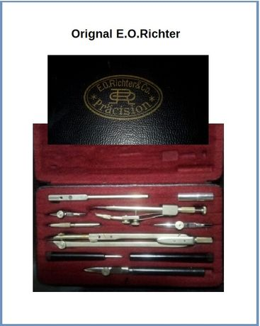 przybornik kreślarski kolekcjonerski E.O.Richter