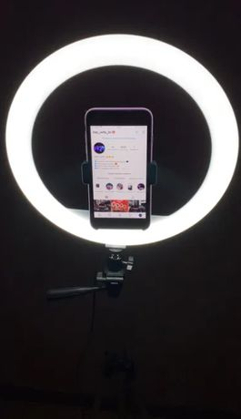 Кольцевая лампа 26 см. с держателем телефона лед свет led круглая