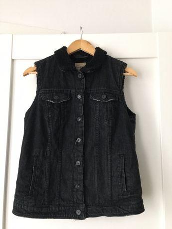 Wysylka 1 zl damska ocieplana kamizelka M, 38 jeansowa bezrekawnik