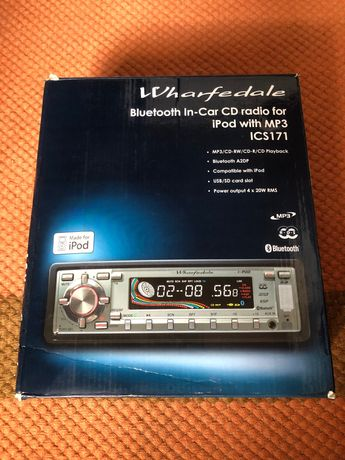 Wharfedale Bluetooth in-car cd radio for iPod with MP3