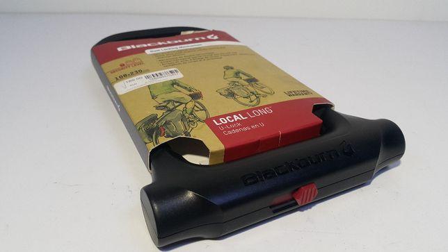 BLACKBURN zapięcie rowerowe Local u-lock 108x230mm czarne LONG 10mm