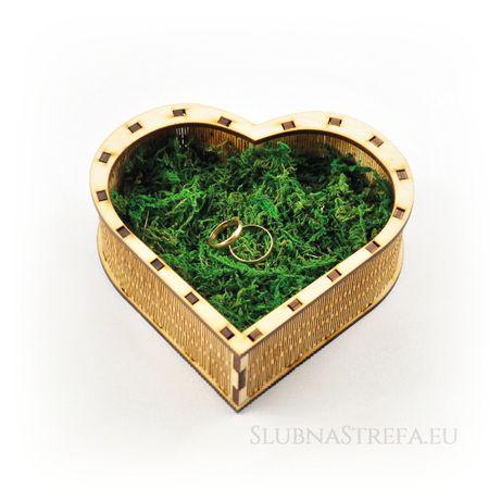 Pudełeczko serce na obrączki pudełko na obrączki eko rustykalny