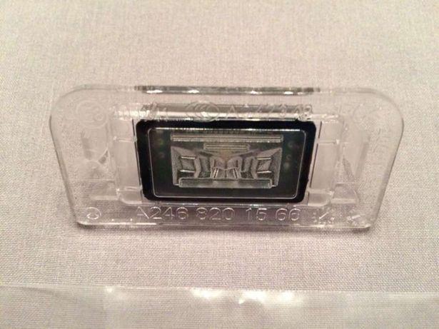 Oświetlenie LED tablicy rejestrac. lampka żarówka mercedes B W246