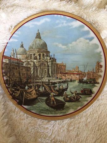 Декоративна тарілка з Венеціанський пейзажем